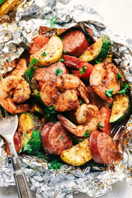 shrimp foil packets cajun