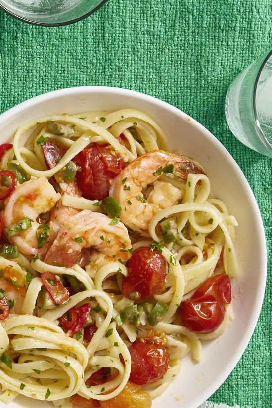romantic dinner ideas - Shrimp Puttanesca