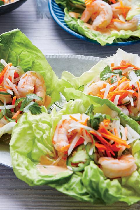 lettuce cup shrimp tacos