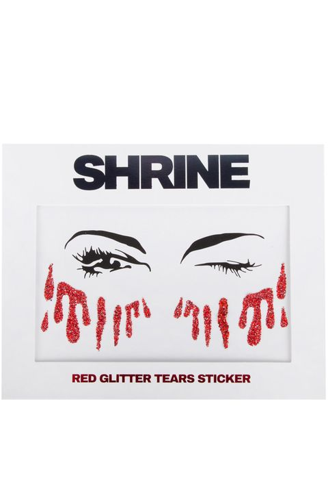 Shrine Halloween Red Blood Glitter Tears