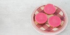 Recept vegan roze koek