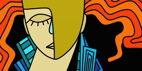 Abstract picture of a woman