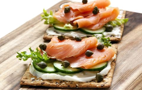 Open faced lox sandwich