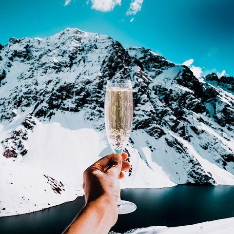 Mountain, Ice, Drink, Winter, Snow, Mountain range, Vacation, Alps,