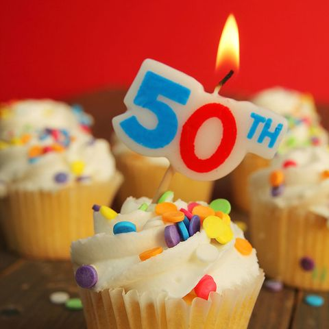 50th birthday cupcake