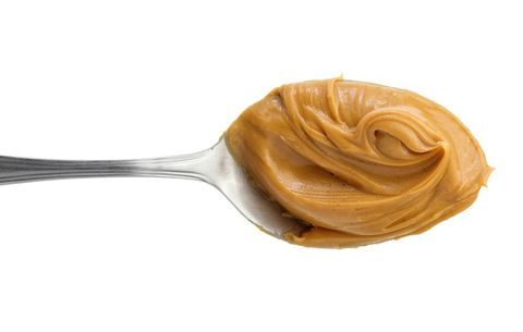 Peanut butter on a spoon