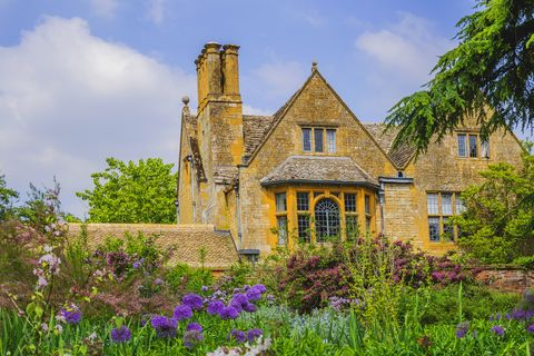 House, Blue, Property, Home, Flower, Building, Estate, Spring, Architecture, Sky,