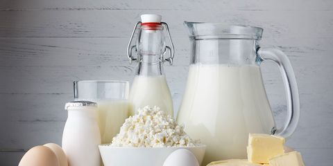 Bloat-producing dairy products