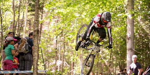 mountain biker crashing