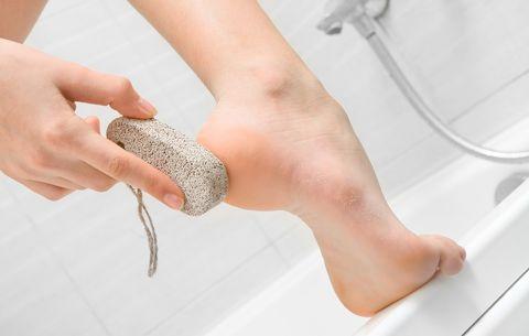 Exfoliating heel
