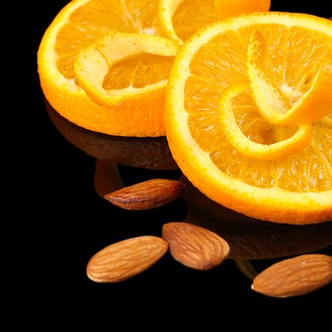 almonds and an orange