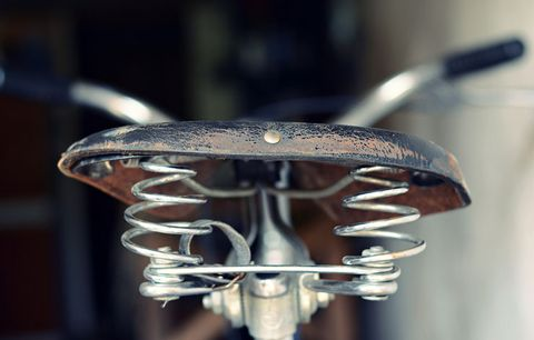 old fashioned bike seat