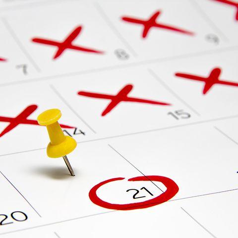 Days on calendar