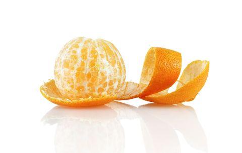 Peeled clementine