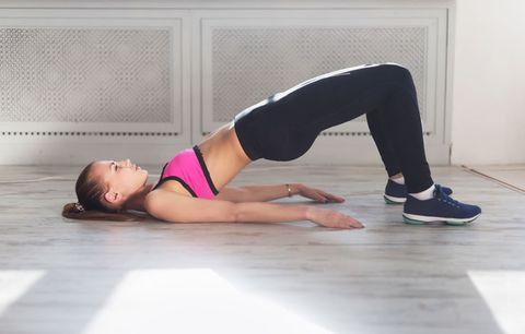 half bridge yoga move