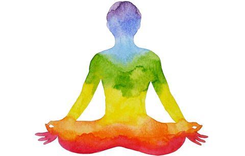 Meditation watercolor