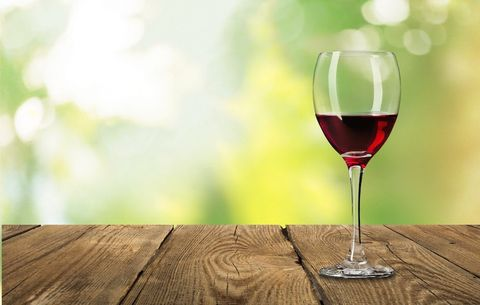 red wine in moderation