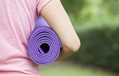Carrying yoga mat