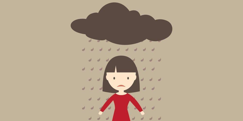 Standing under a rain cloud