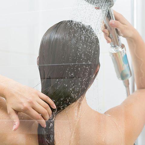 soaking wet hair