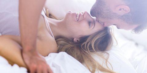 White, Skin, Beauty, Romance, Love, Bed, Sleep, Interaction, Forehead, Lip,
