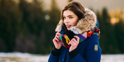 Human, Winter, Jacket, Textile, Outerwear, People in nature, Street fashion, Parka, Youth, Fur clothing,