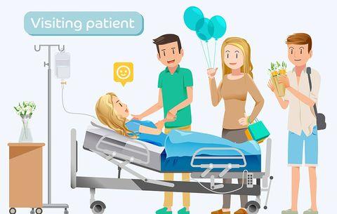 crowded hospital room