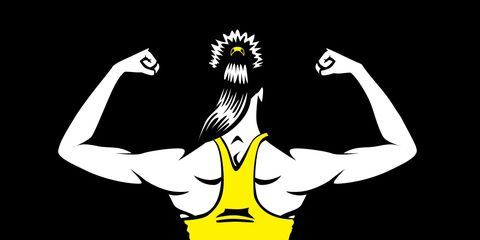 Flexed muscles