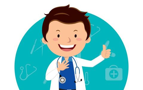 Doctor giving thumbs up
