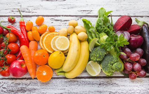 Rainbow of fresh produce