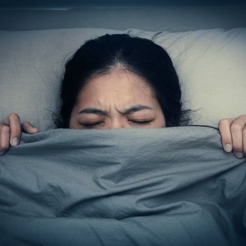 Woman having nightmares