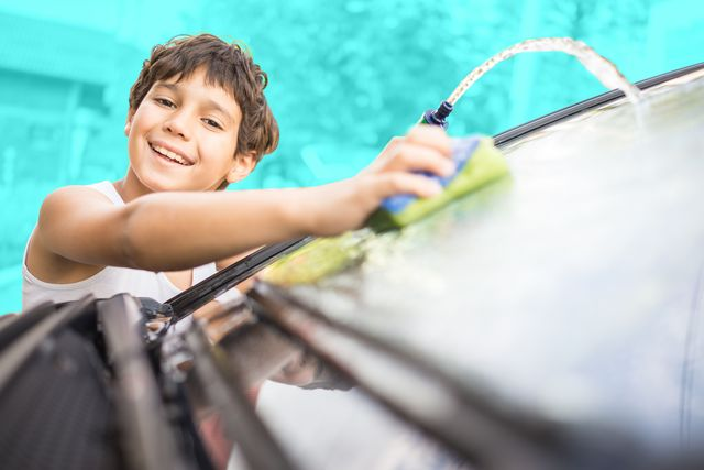 young father and little boys washing car in summer day shutterstock id 419706436 purchaseorder crewblog job crew diy post client road  track other