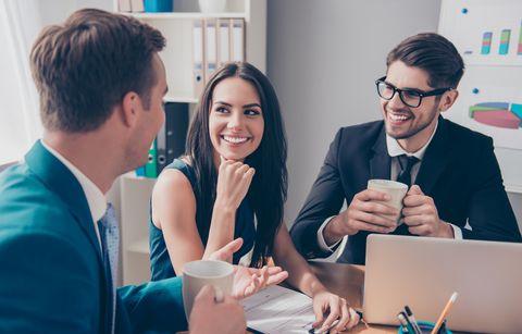 Job, Conversation, Event, Design, White-collar worker, Organism, Businessperson, Employment, Adaptation, Collaboration,