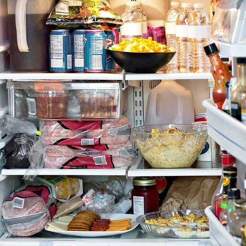 overstuffed fridge