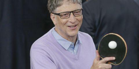 Bill Gates Playing Table Tennis