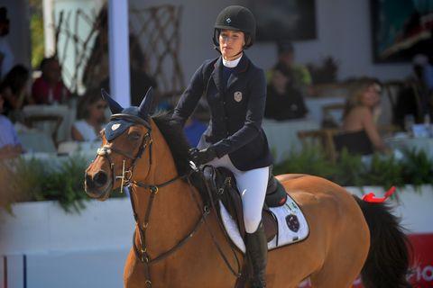 Horse, Bridle, Halter, Mammal, Sports, Rein, Vertebrate, Equestrian, Animal sports, Equestrianism,