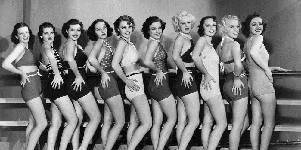 Line Of Women Showing Off Their Legs