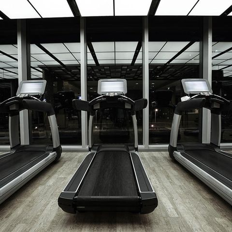 Dirty exercise machines at the gym