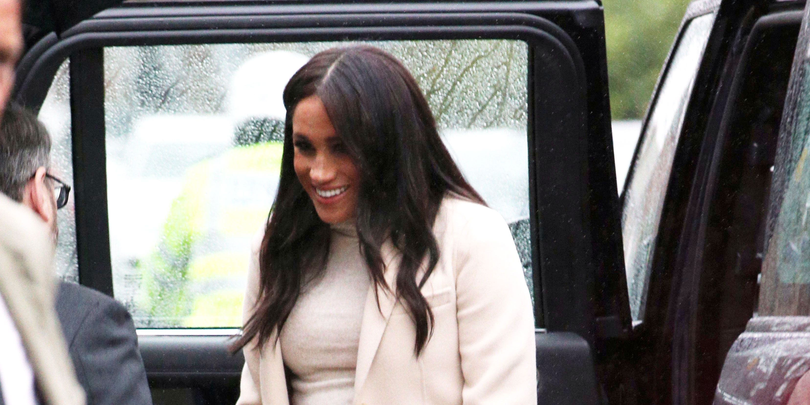 Meghan Markle Wore a $35 H&M Maternity Dress to Visit The Mayhew