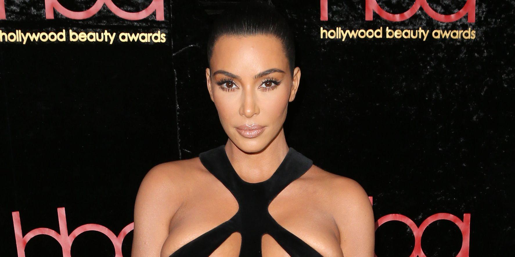Kim Kardashian Wears Vintage Thierry Mugler Black Gown ...