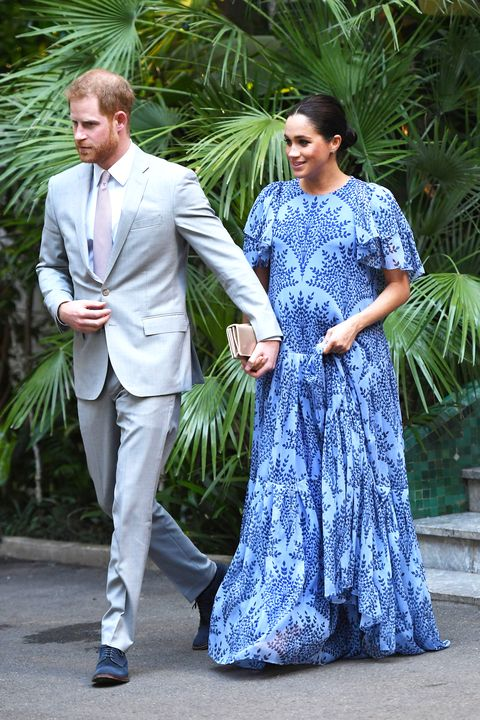79b7f637072b Meghan Markle Wore a Show-Stopping Carolina Herrera Gown to Meet the King  of Morocco