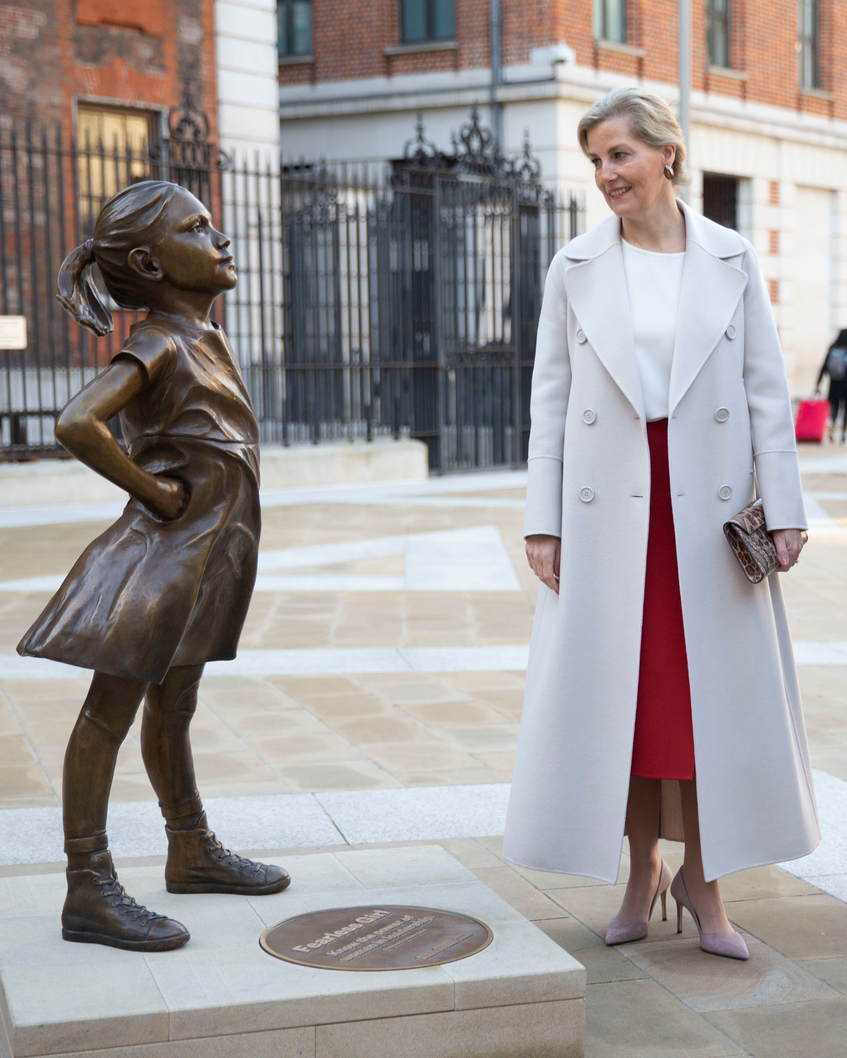 sophie countess of wessex fearless girl london stock exchange