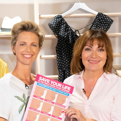 Lorraine Kelly launches Boob Bus for breast cancer awareness