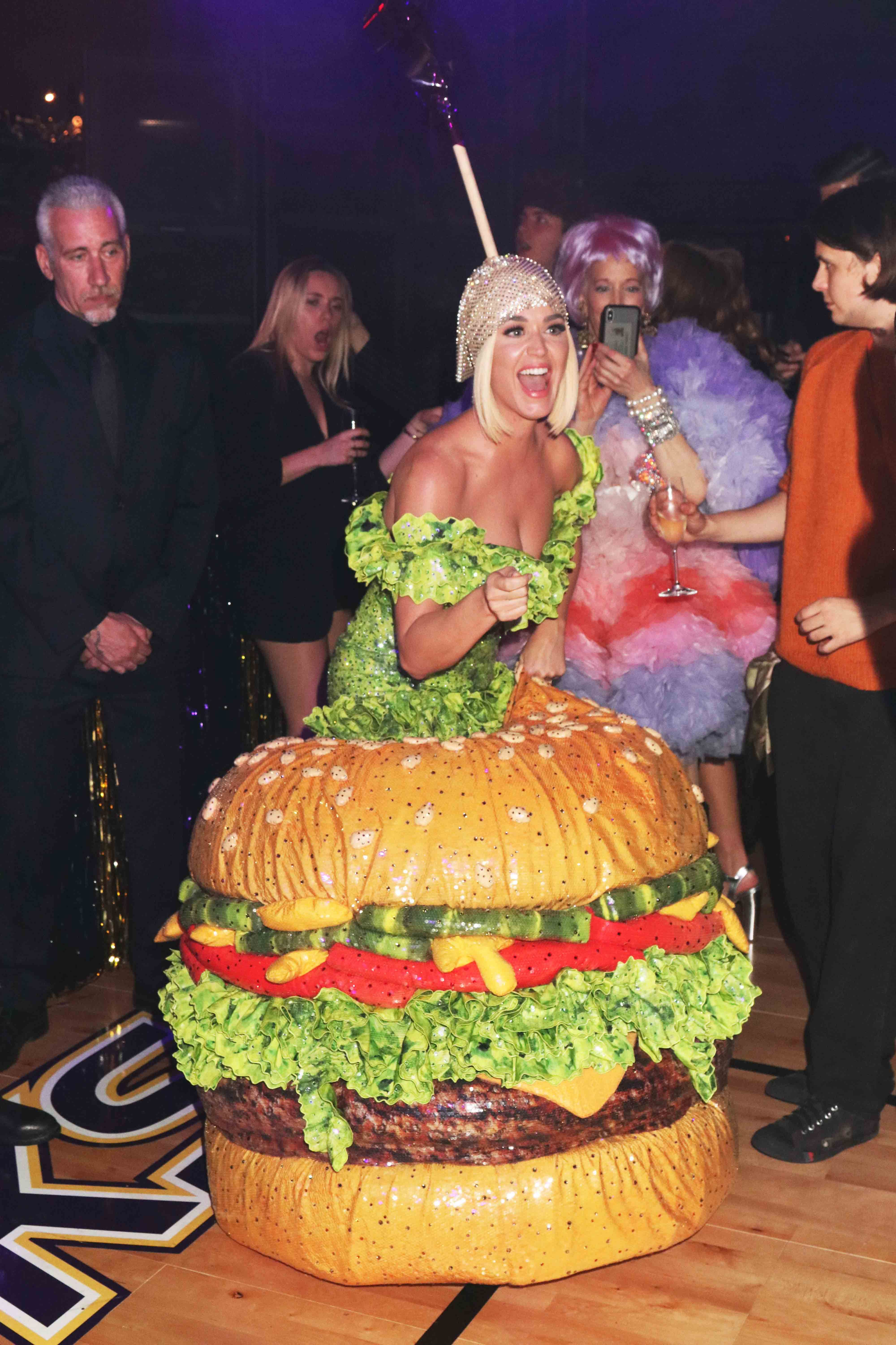 Katy Perry If you can't dress as a cheeseburger for the Met Gala after-party, then when can you?