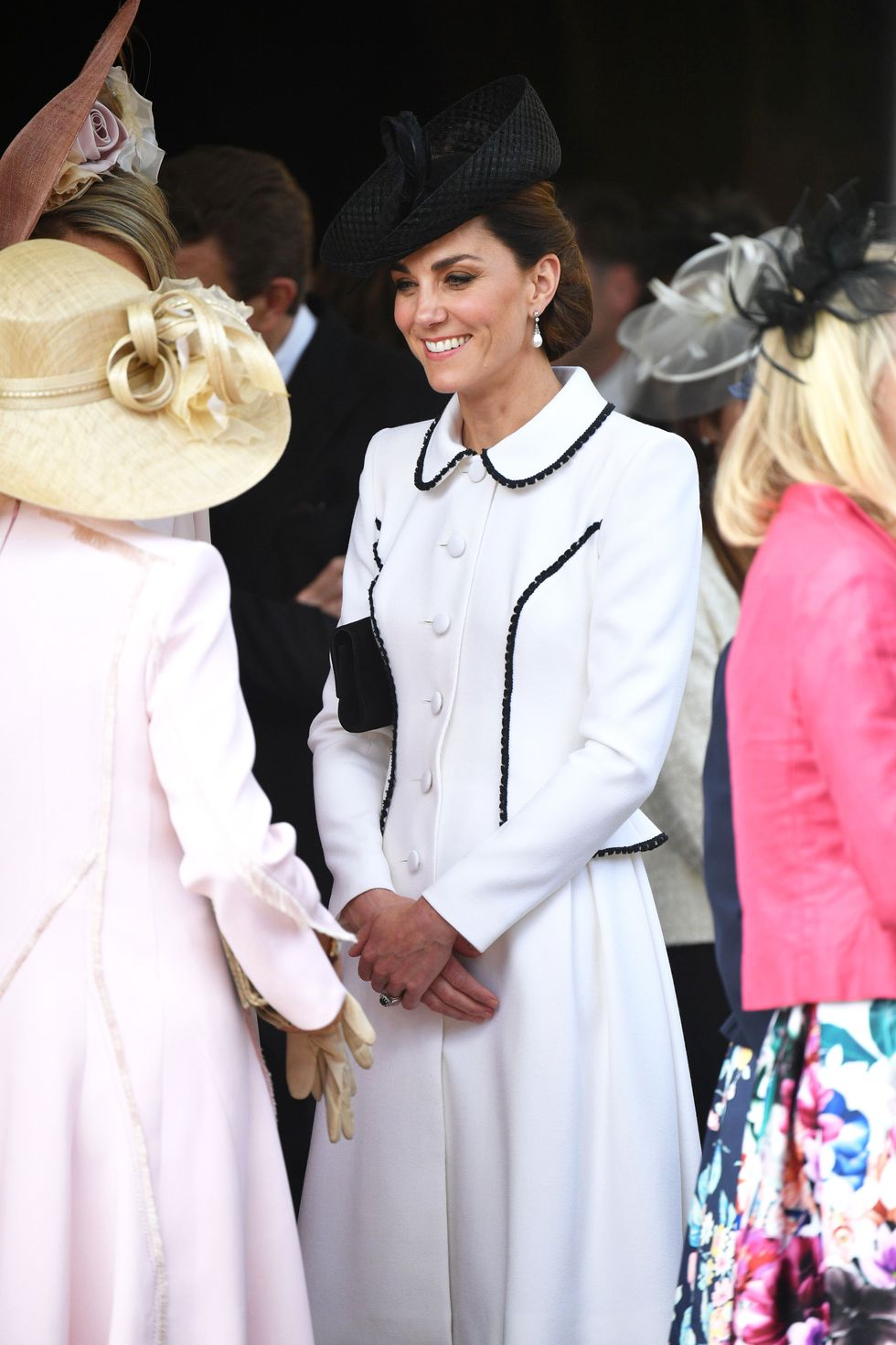 Kate Middleton Channels Meghan Markle's Ascot Look With Catherine Walker Coat Dress on Garter Day