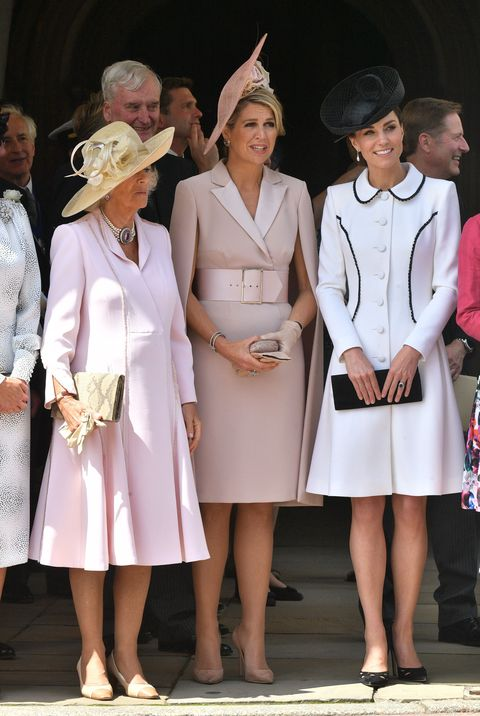 Camilla, Duchess of Cornwall, Queen Maxima of the Netherlands, and Kate Middleton on Garter Day.