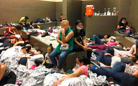Overcrowding at DHS holding facility in McAllen, Texas, USA - 11 Jun 2019