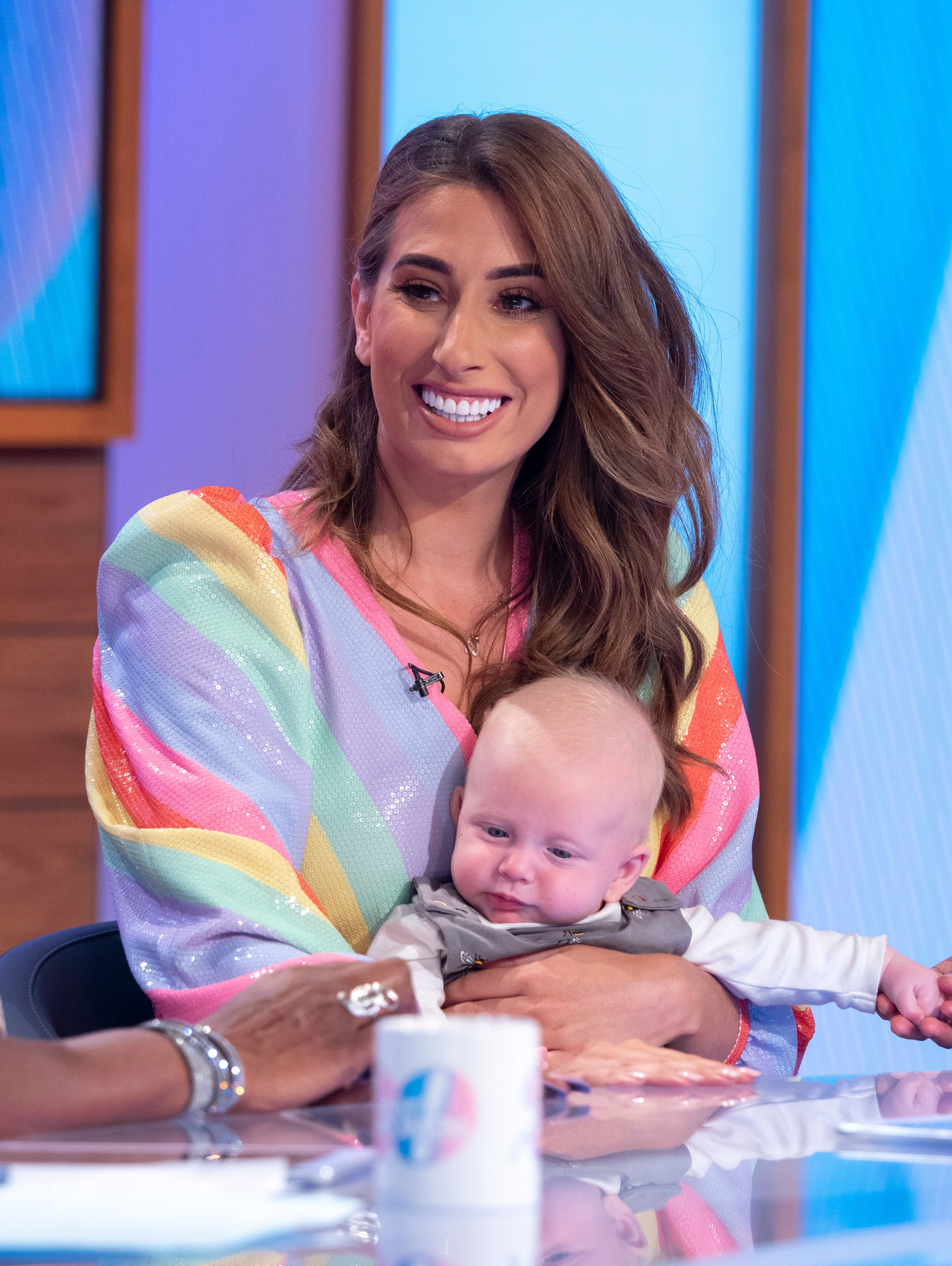 Stacey Solomon returns to Loose Women with adorable baby Rex