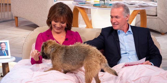 Lorraine's precious pooch Angus makes a special TV appearance