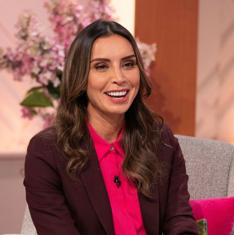Christine Lampard steps into Lorraine Kelly's shoes in smart suit